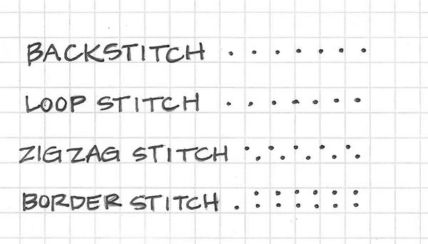 5 stitch sketch